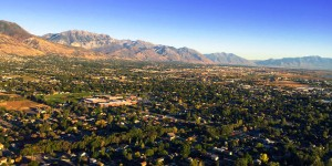 Aerial photo of Utah Valley