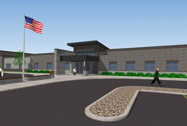3D rendering of new elementary school