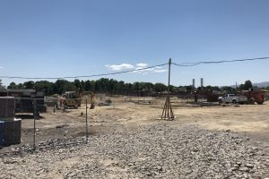 Construction site for new school in Orem