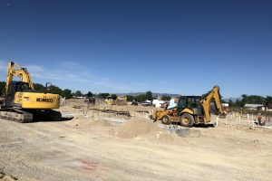 Construction equipment on site in Orem