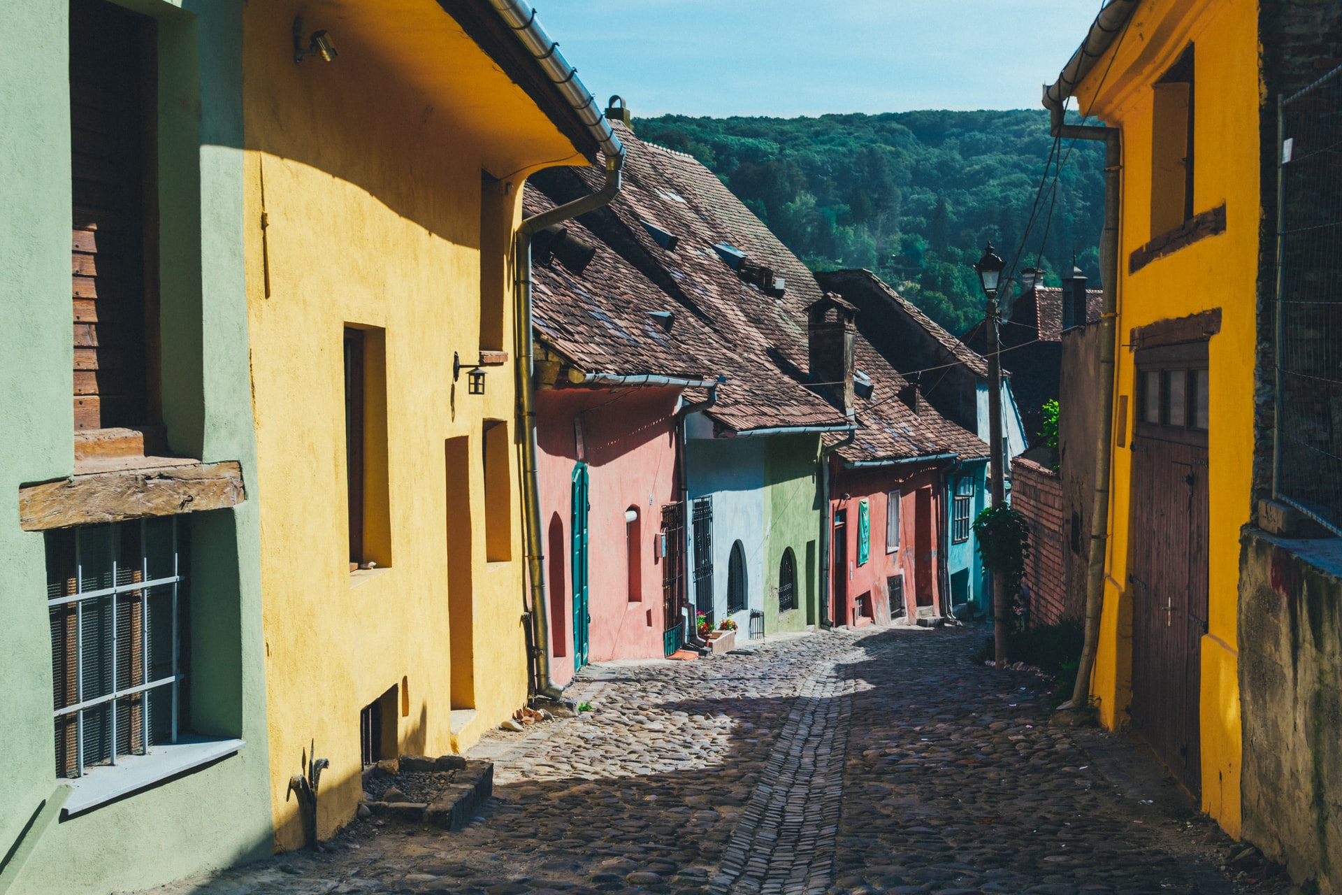 Street of Colorful Houses