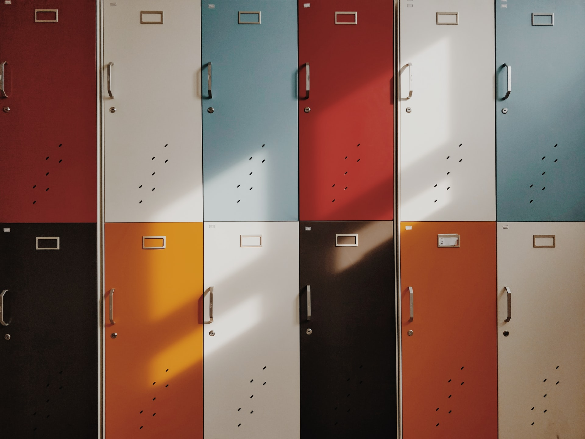 Various Colored Lockers